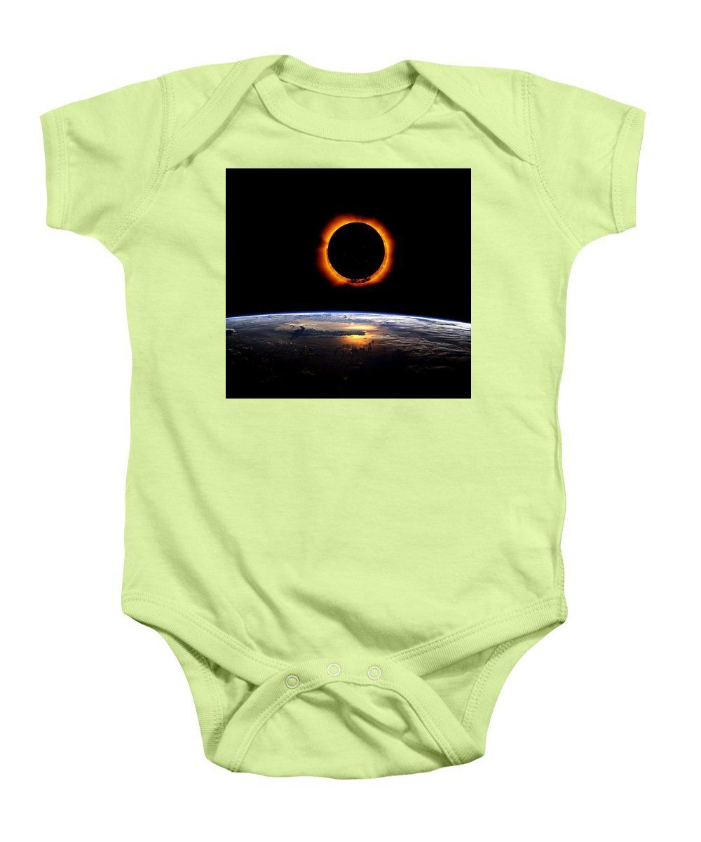Solar Eclipse From Above The Earth 2 - Baby Onesie