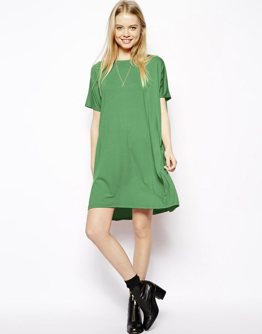 712d59ec363d Women's Green T-shirt Dress With Short Sleeves | Bob's Burgers ...