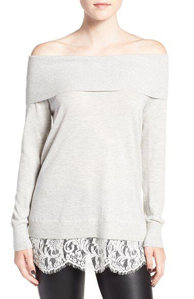 fc7bb7e6f6fb3d Chelsea28 Chelsea28 Lace Off the Shoulder Sweater available at #Nordstrom