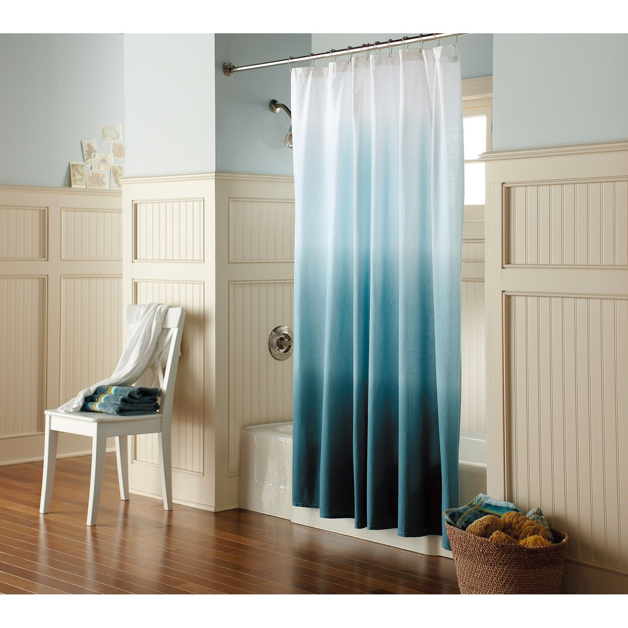 Threshold Ombre Shower Curtain In Blue Brings The Beauty Of Coastal Calm To Your Bathroom Decor Made 100 Cotton With A 120 Thread Count