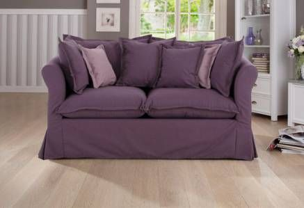 Home affaire Hussensofa 2-Sitzer lila/violett, ohne Bettfunktion