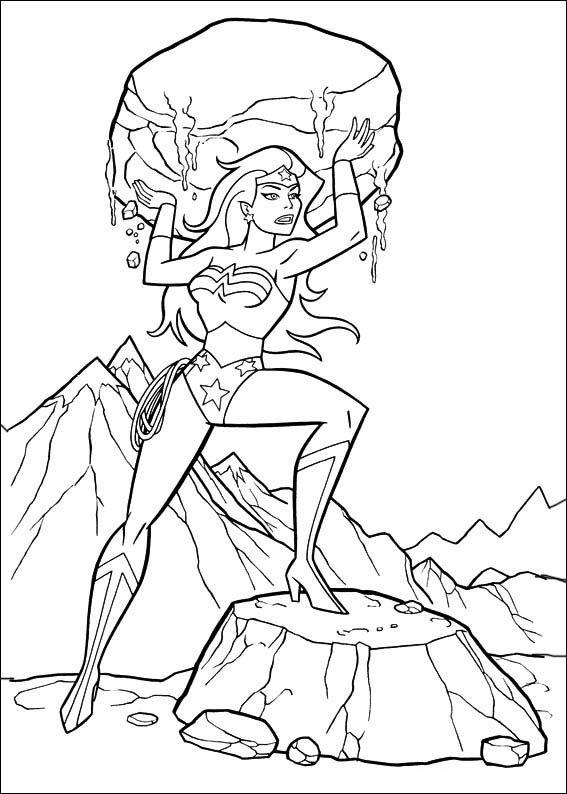 wonder woman coloring pages free - dibujos para colorear wonder woman mujer maravilla 9