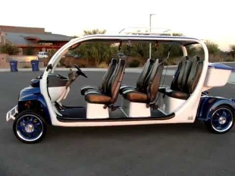 Brand New Gem Car E6 Super Stretch 6 Seat Limo Cart Completely Tricked Out