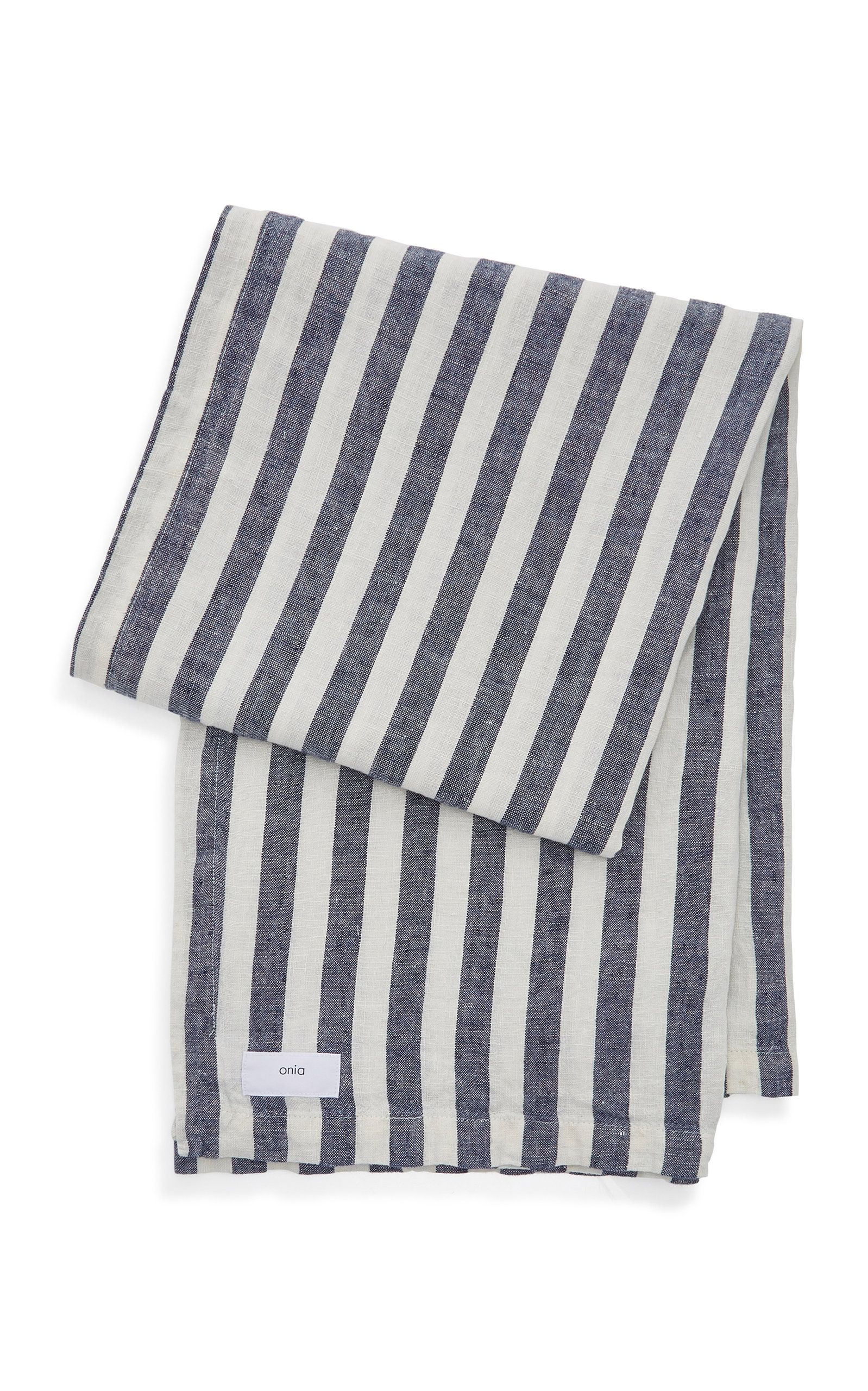 Onia Striped Linen Beach Blanket Beach Blanket Striped Linen Linen