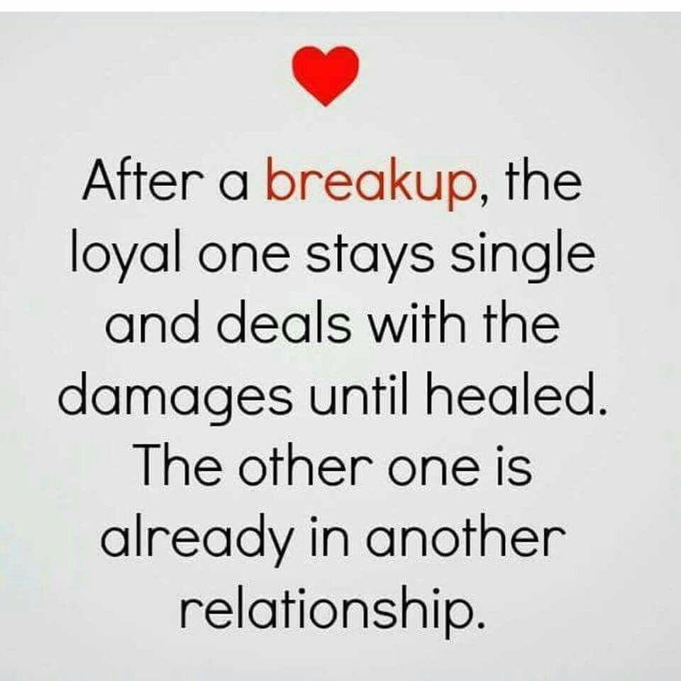 Rebound after breakup