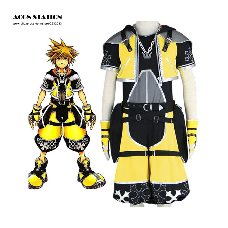 2017 Free Shipping Anime Adult Halloween Costume Kingdom Hearts Sora  Cosplay Costumes For Men Anime Carnival
