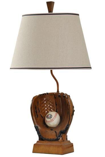 baseball glove lamp   Child's Room   Pinterest   Room