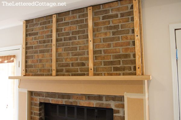 Fireplace Makeovers On Pinterest Painted Brick