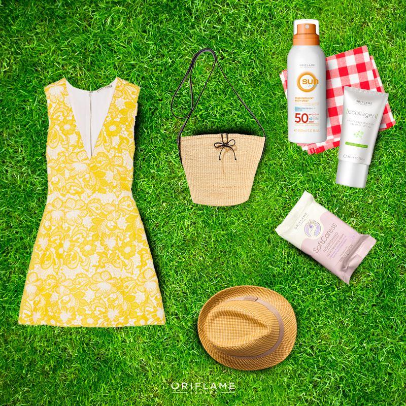 Porque la vida rodeada de naturaleza se disfruta más. No olvides los básicos para exponerte al sol sin preocupaciones. #Summer #Picnic #Basics