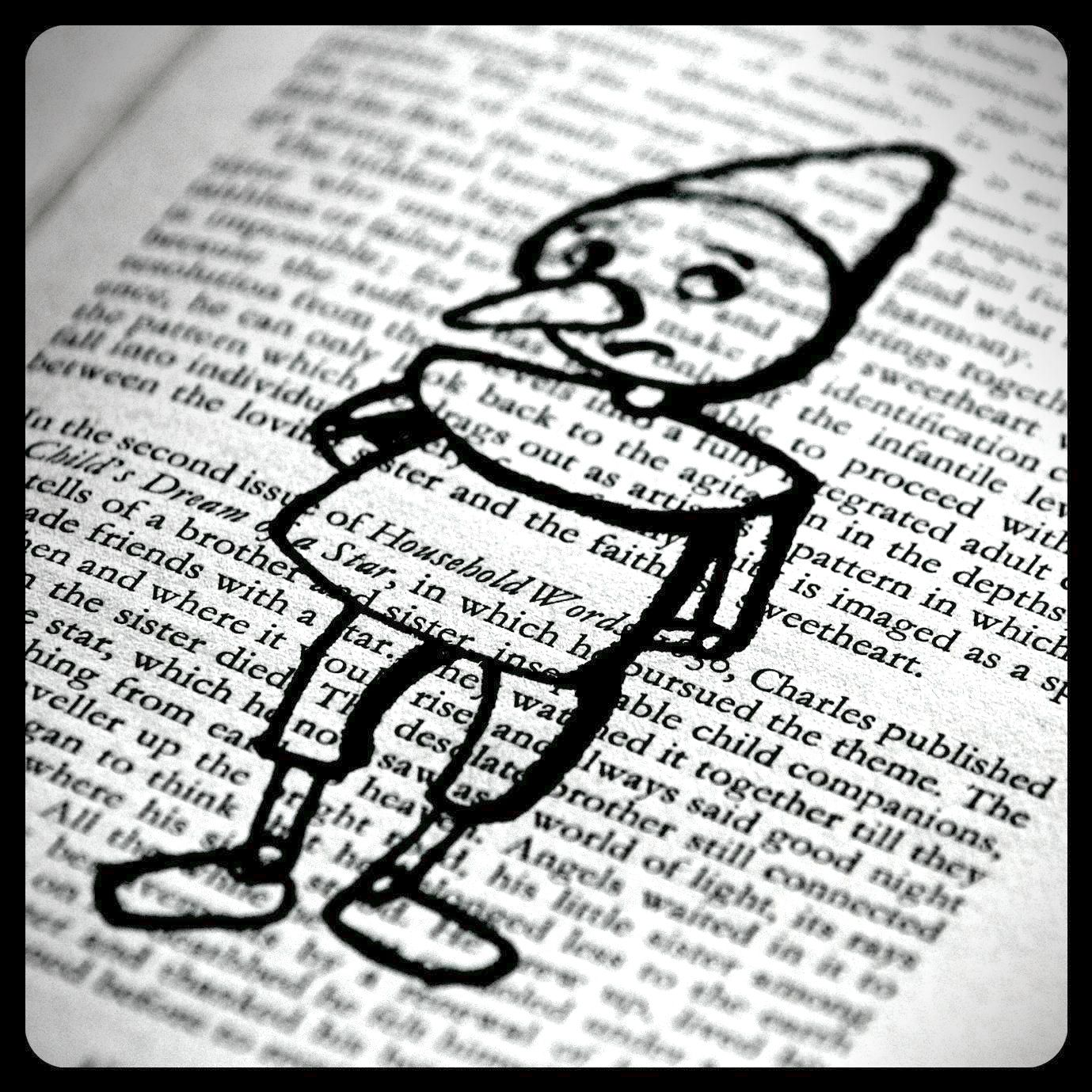 Arteascuola Storybook Characters On Old Book Pages With