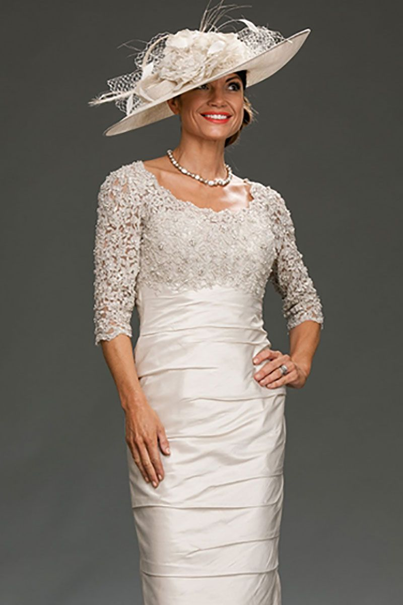 Ian Stuart fitted shift dress with beaded bodice and scoop back ...