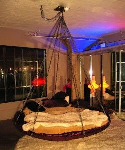 Custom Floating Round Bed Hanging From Chains