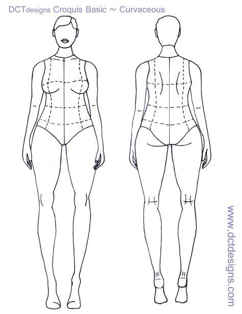 Plus Size Croquis Forma Figura Desenho Esbocos De Design De Moda Estilos De Ilustracao
