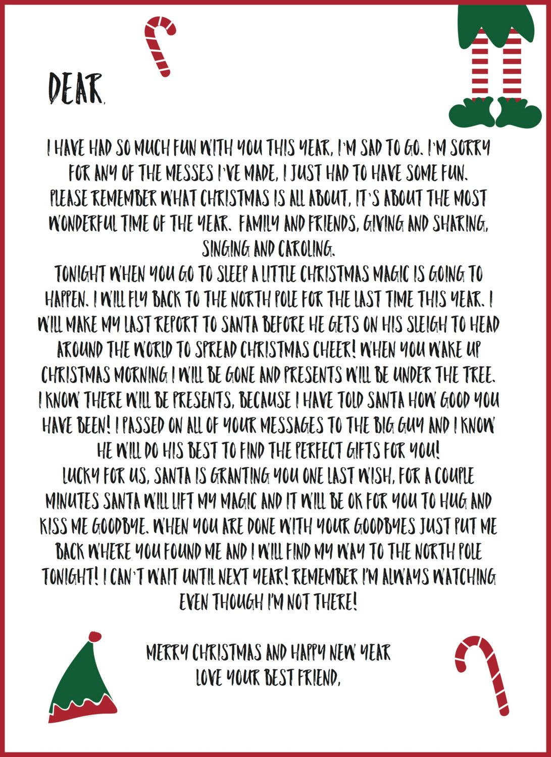 graphic relating to Elf on the Shelf Printable Notes named Pin upon Xmas cheer