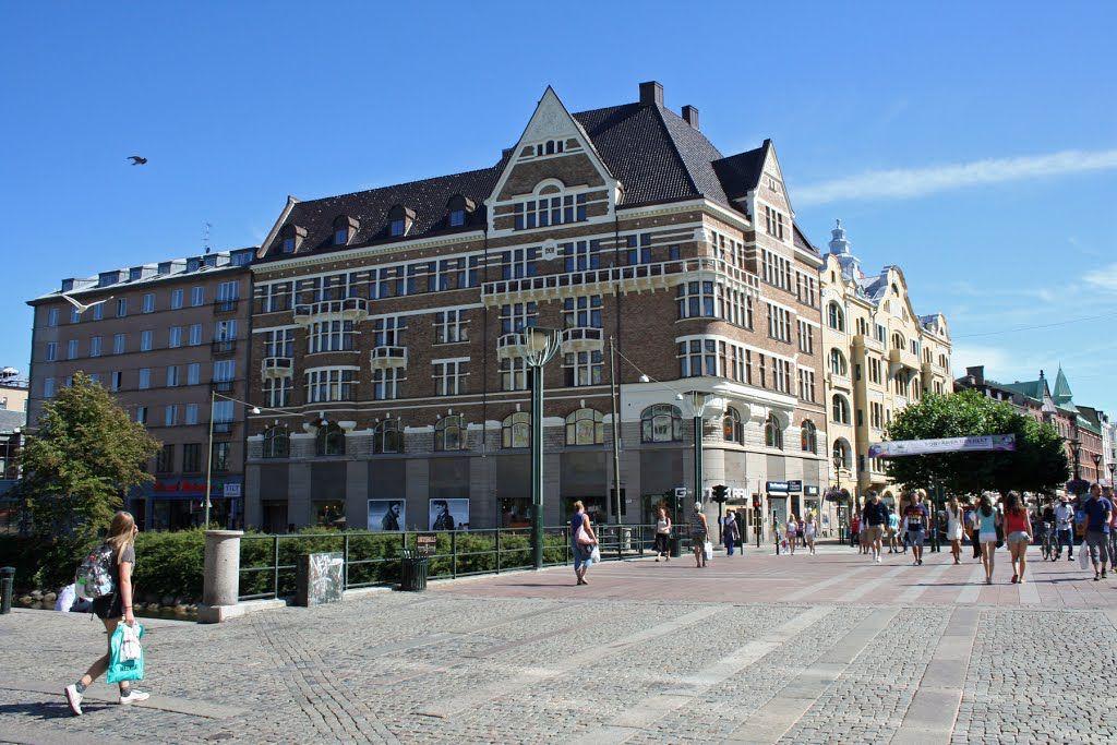 Malmo Korsningen Sodra Tullgatan Drottninggatan