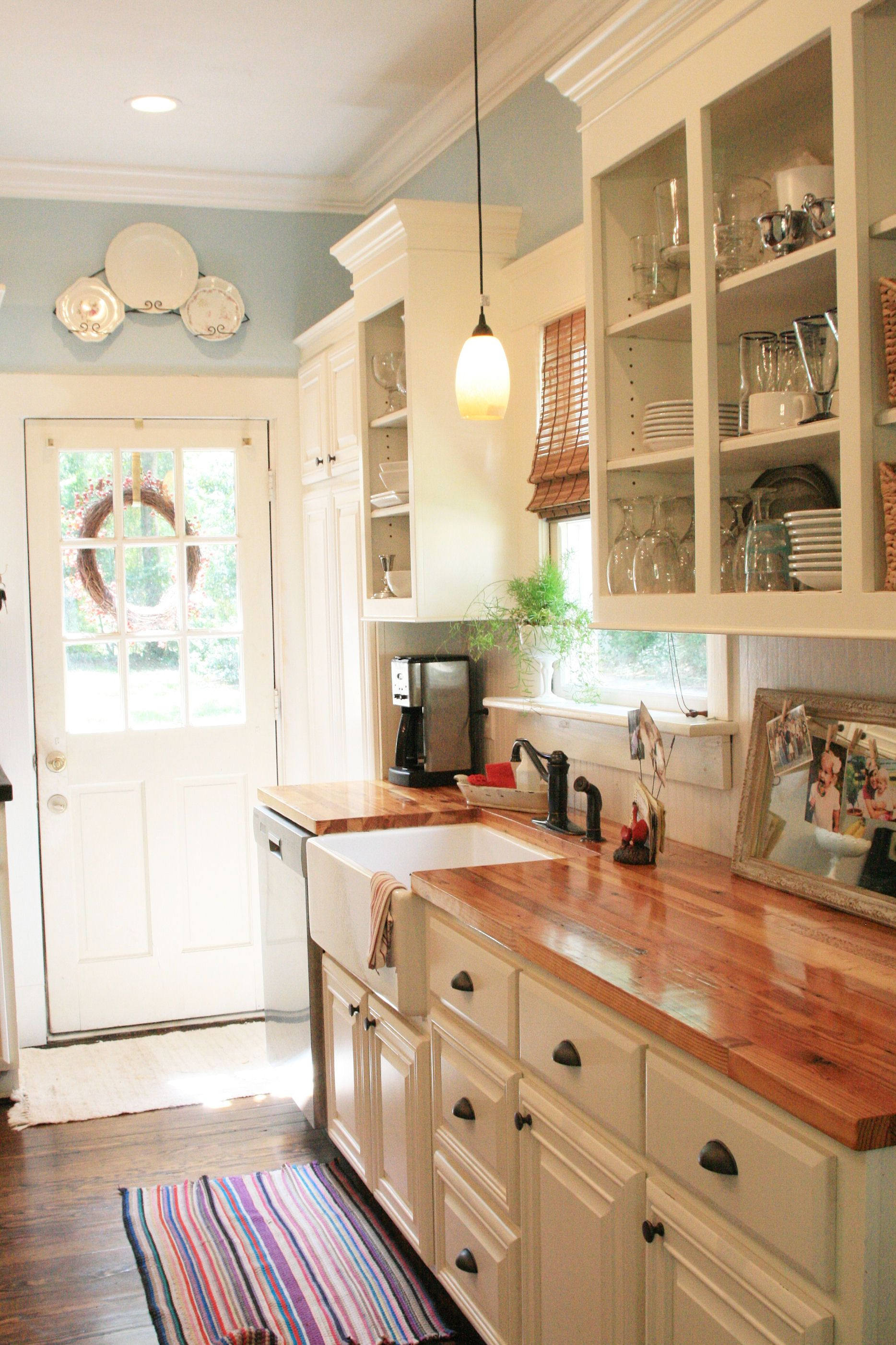 White Country Kitchen With Butcher Block 23 rustic country kitchen design ideas to jump start your next