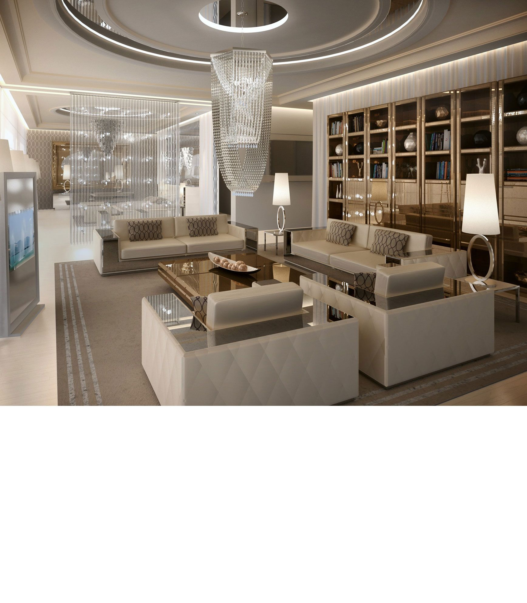 Living Room Luxury Designs Love The Idea Of A Long Big Cabinetry In The Back Of A Living Room