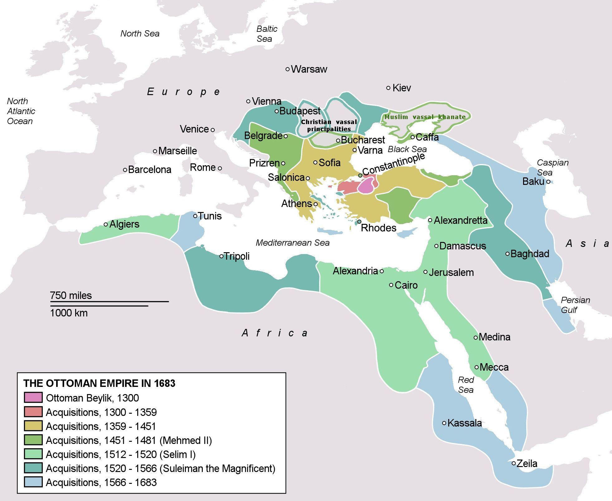 Ottoman Empire Map Under Sultan Suleiman The Magnificent Rule