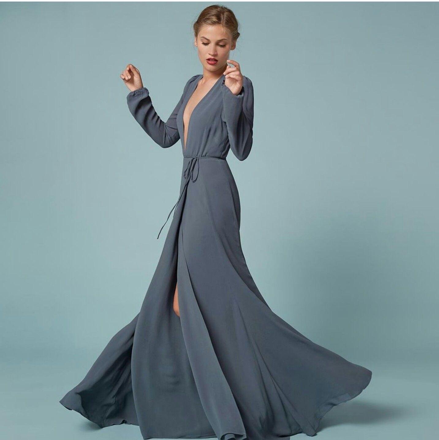 Dark grey Thea Dress by Reformation | Wedding Bliss | Pinterest ...