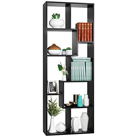 Amazon Com Homfa Bookcase Tv Stand 8 Cube Bookshelf Free
