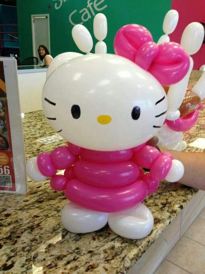 Hello kitty de balão Balloon art Pinterest Globo, Decoración - imagenes de decoracion con globos
