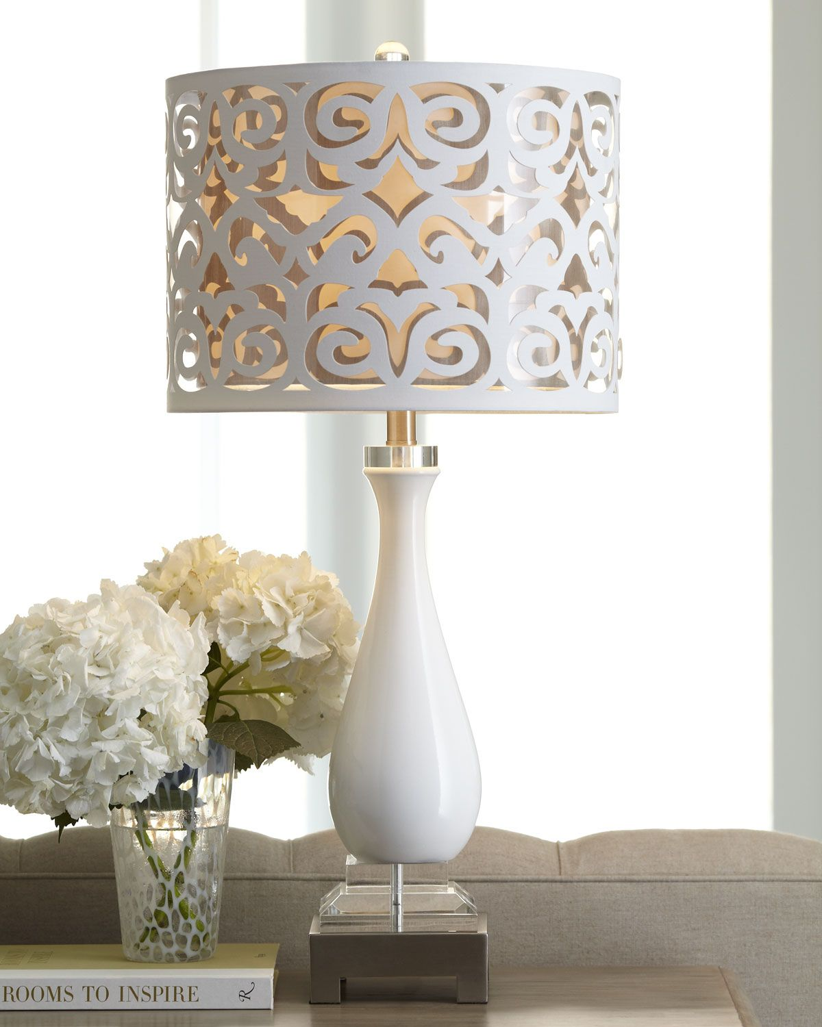 scroll-shade table lamp make DIY with decoupage paper | Lamps ...
