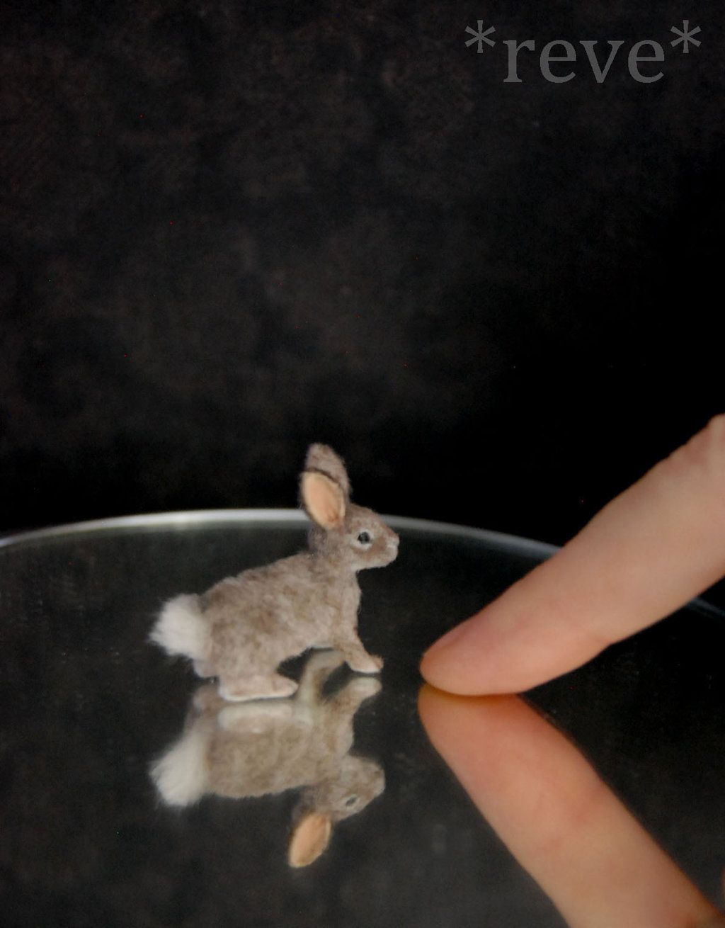 Miniature Cottontail Rabbit Handmade Sculpture by ReveMiniatures.deviantart.com on @deviantART