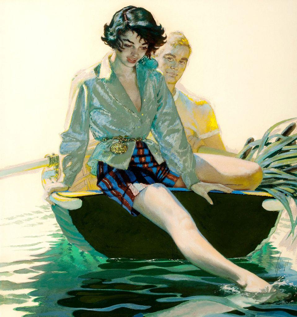 A Lake Trip - Edwin Georgi. Art of ILLustration