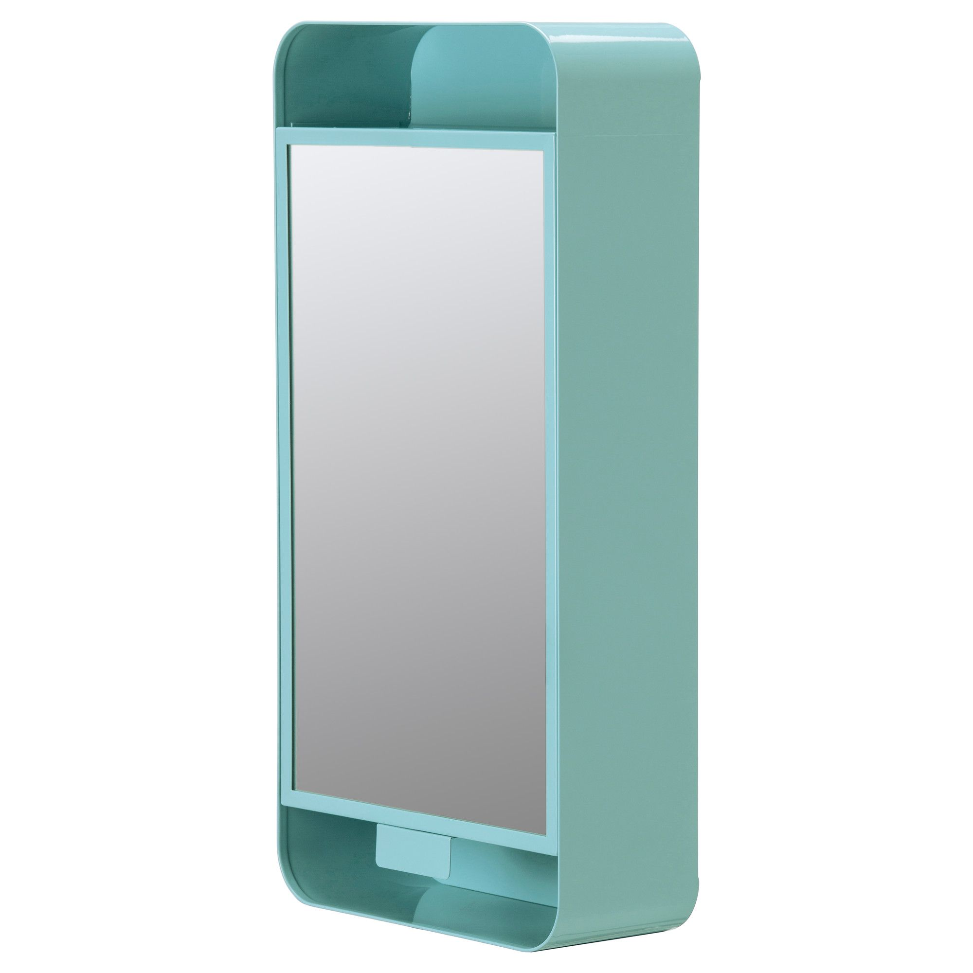 gunnern mirror cabinet with 1 door turquoise blue mirror cabinets turquoise and vanities. Black Bedroom Furniture Sets. Home Design Ideas