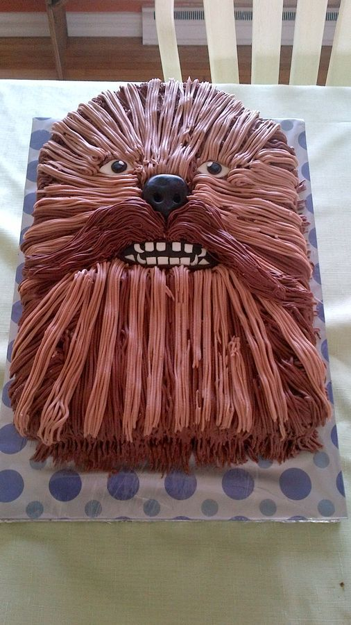 Chewbacca Cake pic only Would LOVE to do this for my hubby