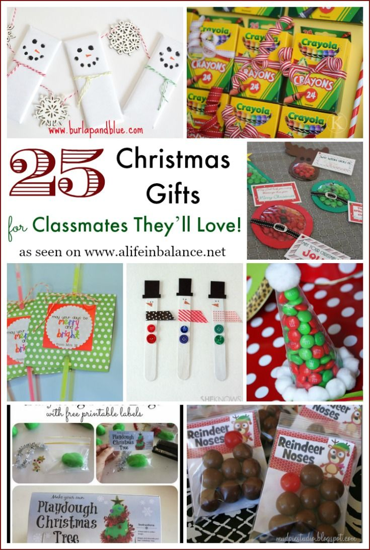 25 Christmas Gifts for Classmates They\'ll Love! | Thrifty Thursday ...