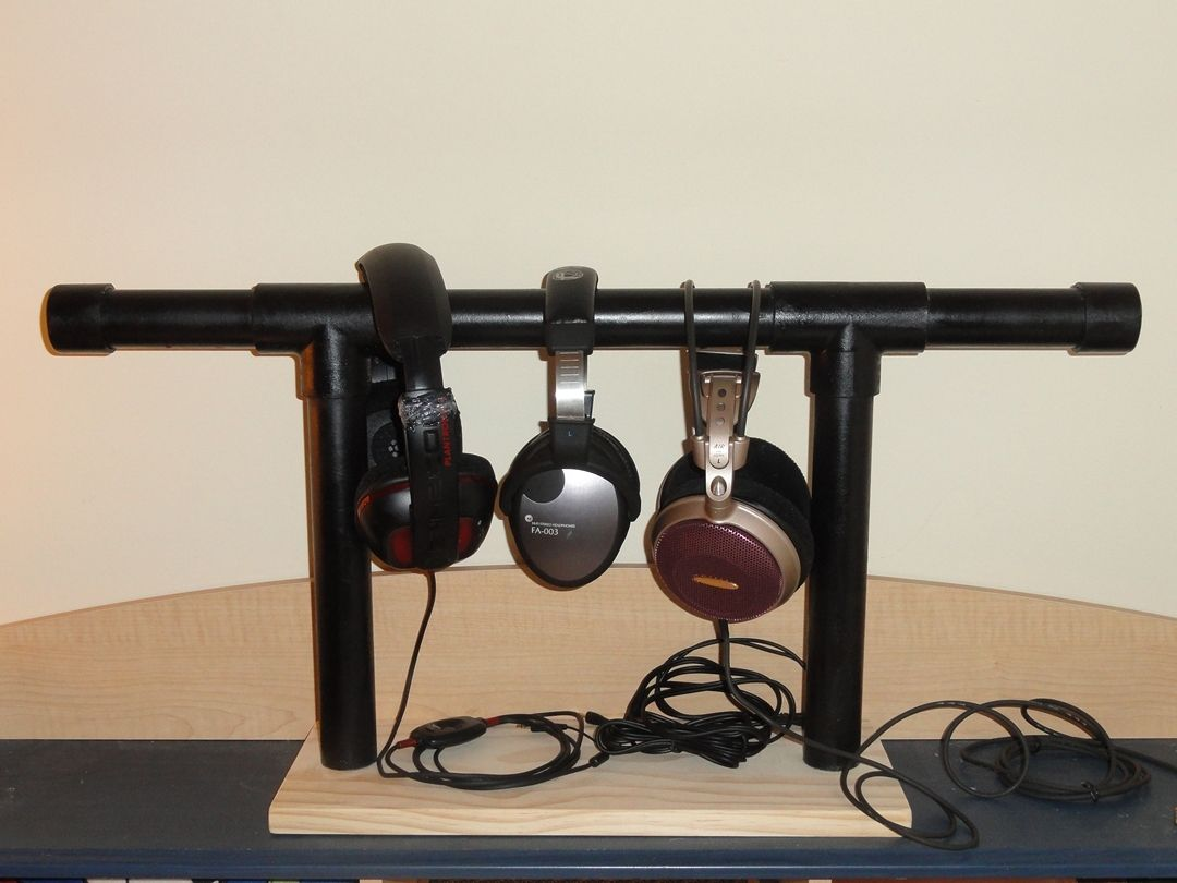 Image Result For Dowel Headphone Stand Diy Diy Headphone Stand Diy Headphones Headphone Stands