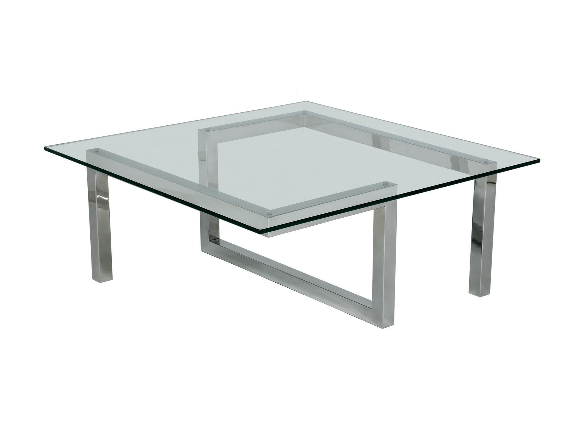 Charming Stainless Steel And Glass Coffee Tables