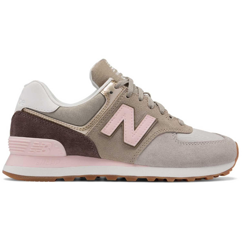 new balance 574 beige y rosa