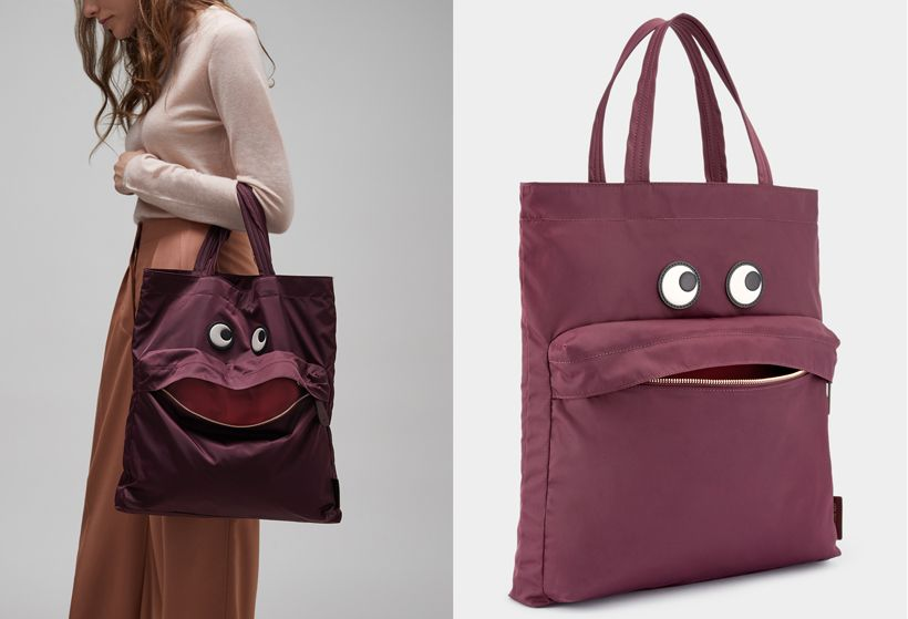 f48ec311e Look at that playful Anya Hindmarch Eyes Tote, it has cool funny  expression. This