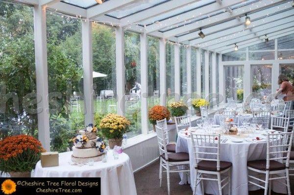Freda 37 Crabtrees Kittle House Wedding Reception Flowers Lighted Poles Atrium Le Lights Mums Fall Cake