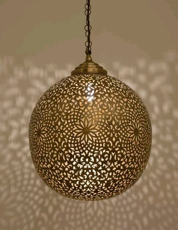 Moroccan Pendant Br Lights Vintage Lamp Hanging