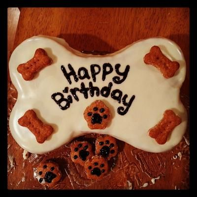 Dog birthday cake decorated with Fido's Frosting cake ...