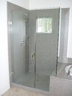 Corian Seamless Showers Enclosures Sacramento Frameless Bathroom