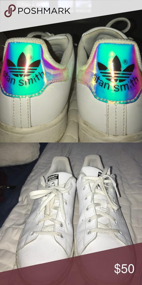 holographic stan smiths adidas literally only worn three times and i'm great condition adidas Shoes Sneakers