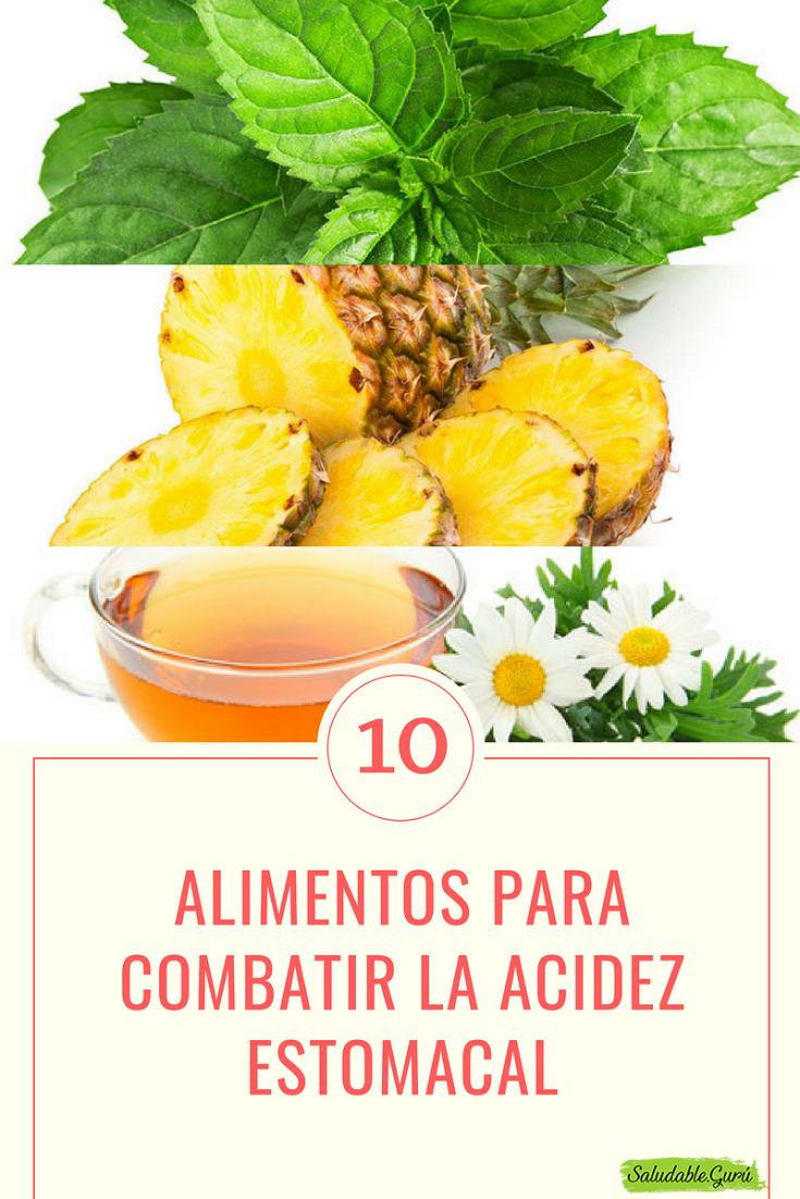 alimentos para prevenir ardor de estomago