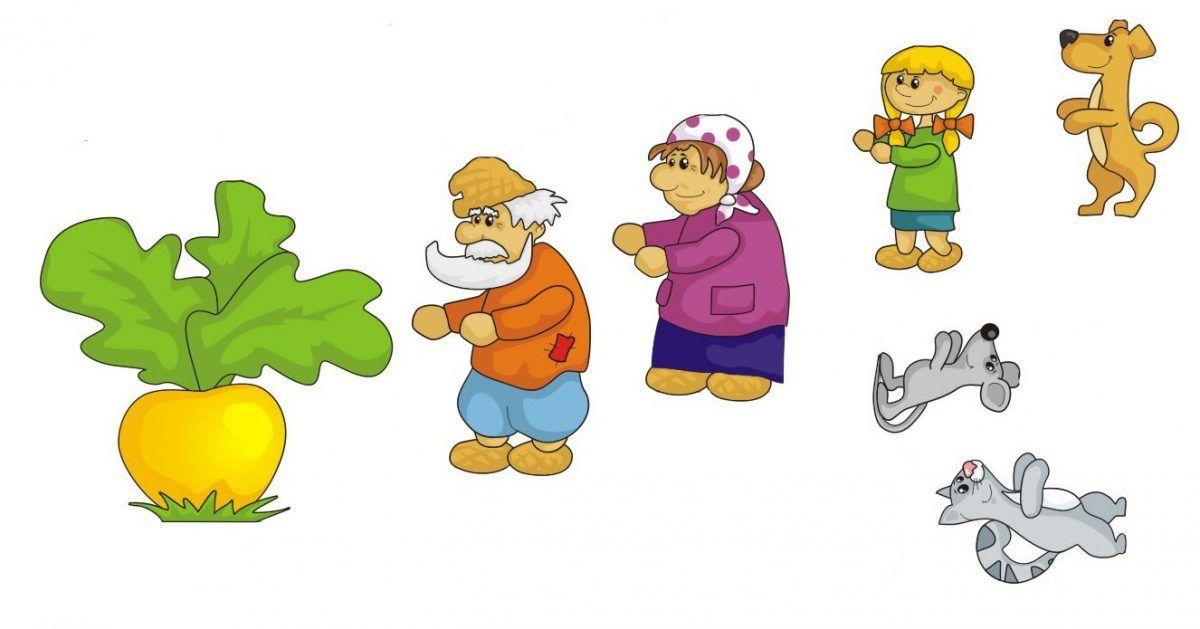сказка репка рисунки героев по отдельности мультфильмов это такие