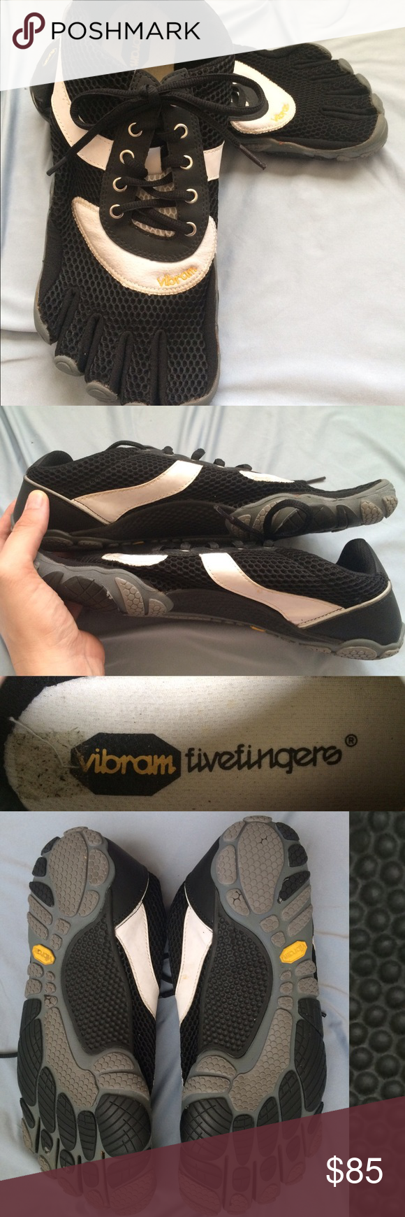 Men's Vibram FiveFingers Tennis shoe style Vibram FiveFingers. He bought online along with 3 other Vibram pairs and only wore this one once with toe socks. Vibram Shoes