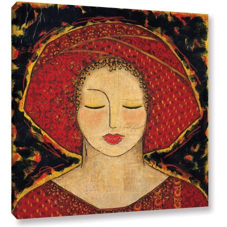 Gloria Rothrock Morning Meditation Gallery-Wrapped Canvas, Size: 24 x 24, Black