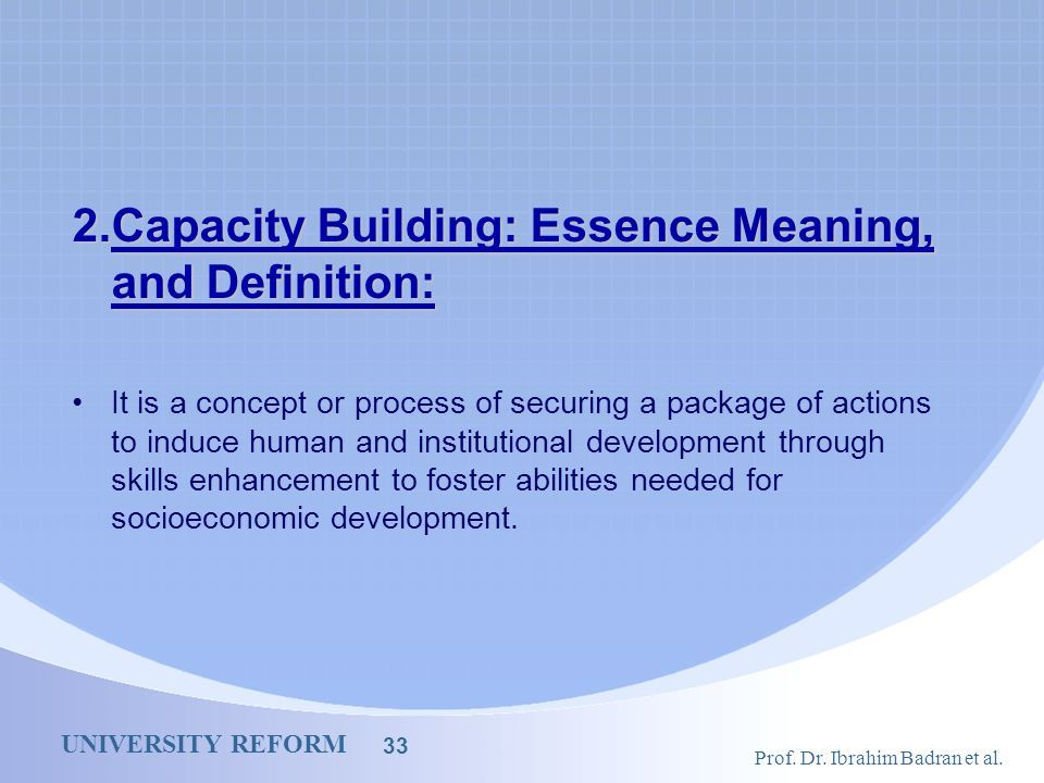 Superior Capacity+Building:+Essence+Meaning,+and+Definition: