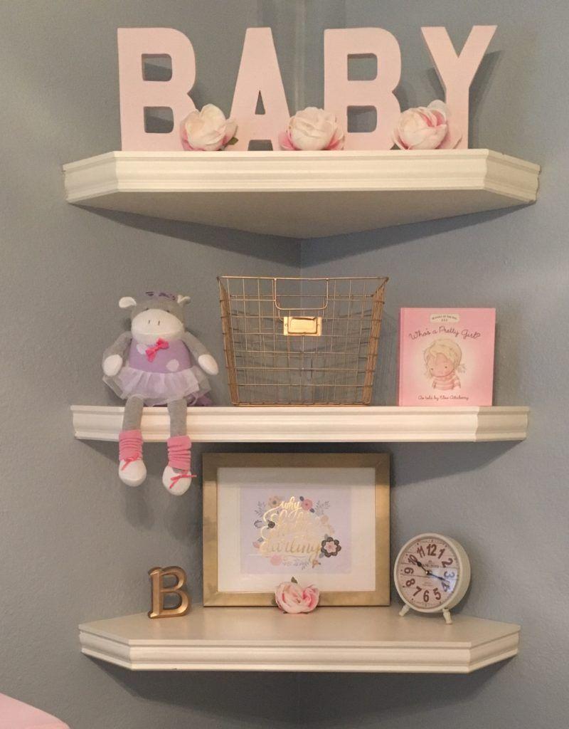 Project Nursery Image Shelves Baby Room Shelving Corner Bedroom