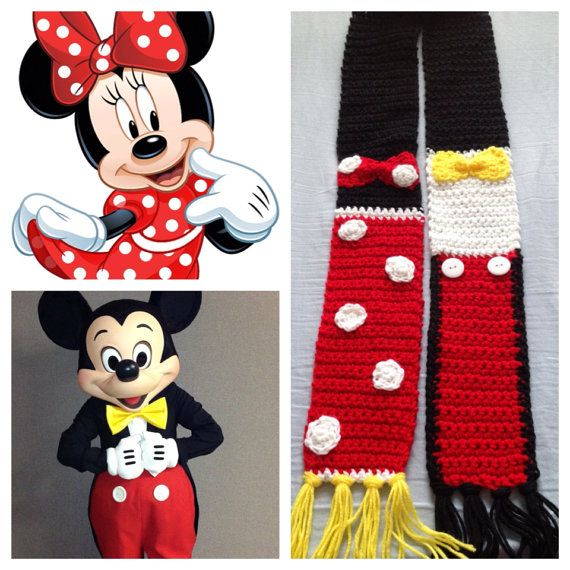 Minnie Mouse & Mickey Mouse inspired Scarf | Pinterest