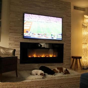 Al60clx Electric Fireplace Installed At A Traditional Fireplace