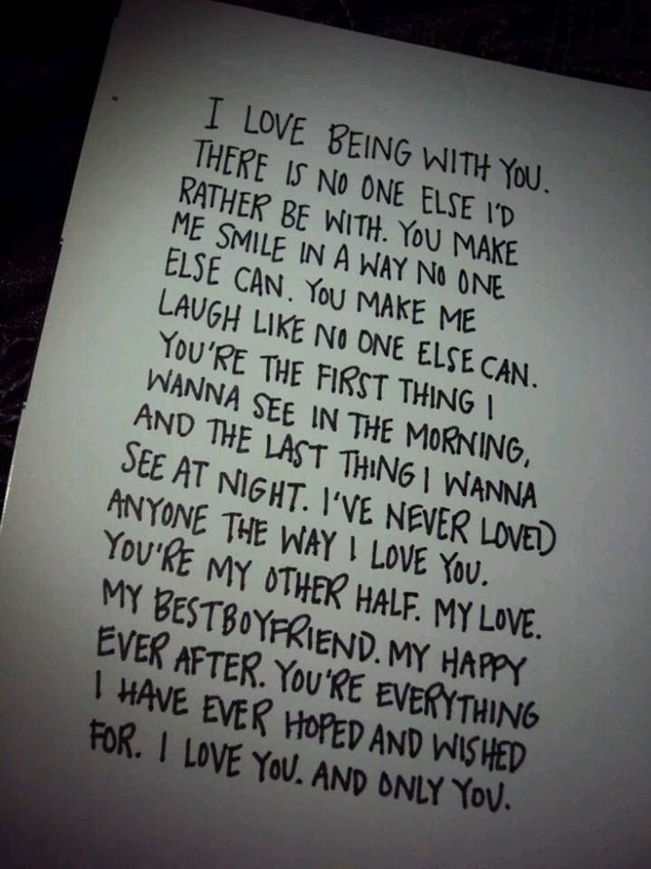beautiful lines for5th wedding anniversary%0A Feel like this with my boyfriend Love him so much Such a cute couple quote  Wrote this down and gave it to him as a love letter  never seen him so happy