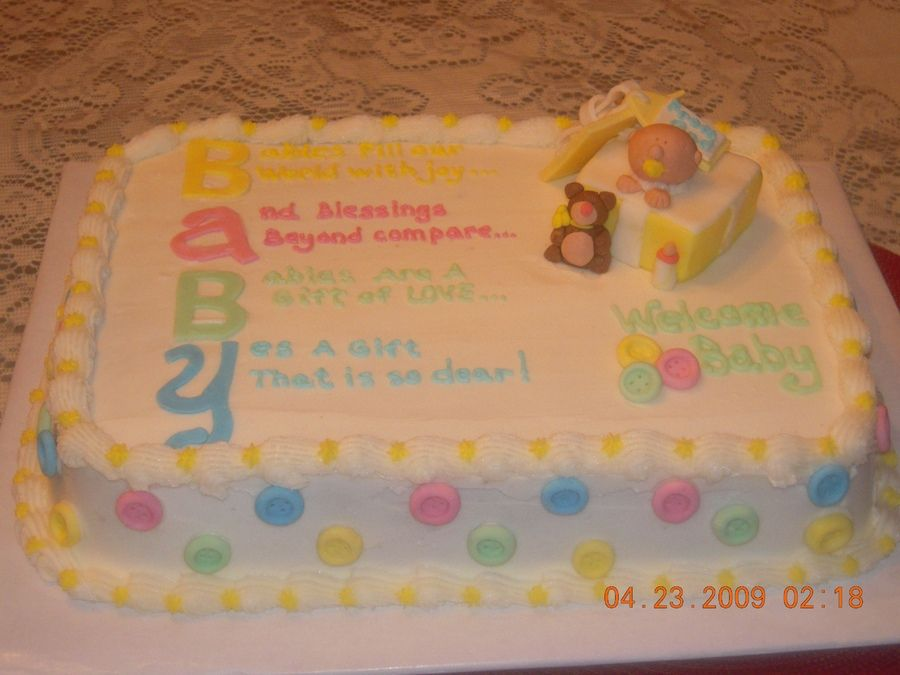 Baby Shower Cakes For Unknown Gender Baby Shower Cake By Baby